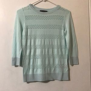 BR Teal See through Blouse